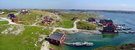 Panoramablick zum Frøya Havfiskesenter in Mittelnorwegen