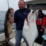 Heilbutt und Dorsch als Duo: auf dem Kabinenboot in Bolga