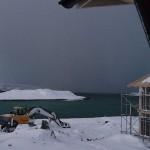 auch bei Schnee wird hier gebaut
