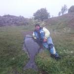 Günther Higler mit seinem Traumheilbutt 105kg und 195cm