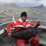 Viktor Krane mit 24 kg Heilbutt