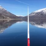Angelrute mit Fjordblick