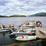 die Bootsflotte in Leka