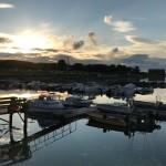 Bootssteg in der Abendsonne
