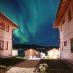 sehr schönes Nordlicht in Mikkelvik