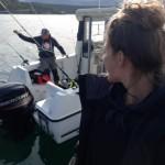 auf dem Angelboot