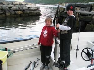 erfolgreiches Fjordangeln - Meerforellen
