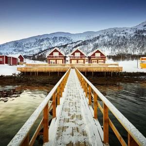 Winter Lichtblicke Vengsøy Rorbuer