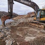 Bauarbeiten in Beskelandsfjorden